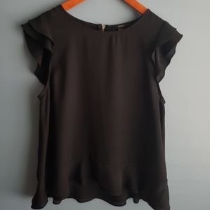 Forever21 black flowy top size S